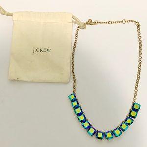 J. Crew Iridescent Blue Stone Necklace